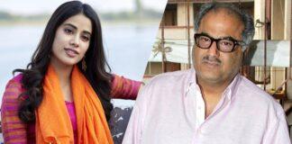 Bollywood actrice Jhanvi Kapoor gaat film maken met vader Boney Kapoor