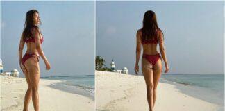 Disha Patani trekt aandacht op sociale media met bikini