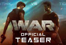Bekijk de eerste teaser van de Bollywood film War