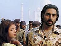 Aish en Abhishek bezoeken Taj Mahal
