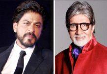 Bollywood acteur Shah Rukh Khan met Amitabh Bachchan in Badla