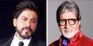 Bollywood acteur Shah Rukh Khan met Amitabh Bachchan in Badla
