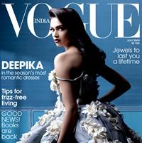 Bollywood - Deepika Padukone op cover Vogue India