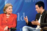 Aamir Khan ontmoet Hillary Clinton