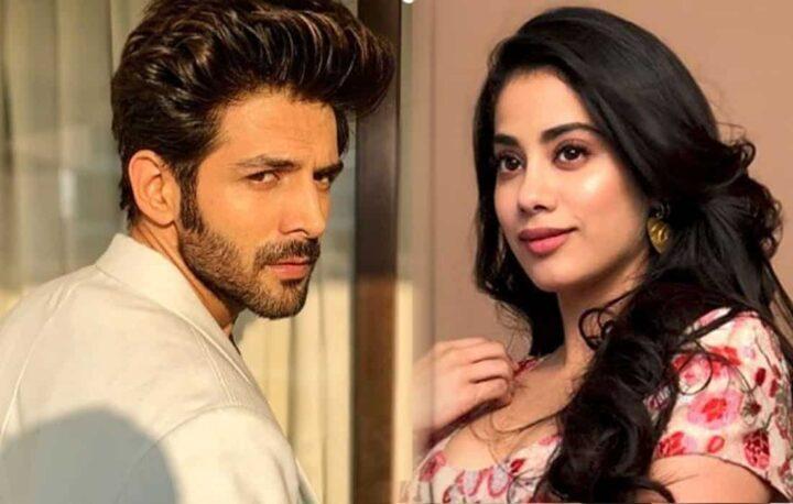 Bollywood sterren Kartik Aaryan en Jhanvi Kapoor in Dostana 2