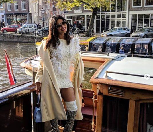 Bollywood actrice Priyanka Chopra gespot in Amsterdam