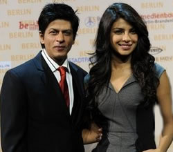 Shahrukh Khan voor Bollywood film in Berlijn