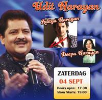 Bollywood playback zanger Udit Narayan in Ahoy